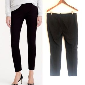 J Crew Black Stretch Twill Minnie Side Zip Pants
